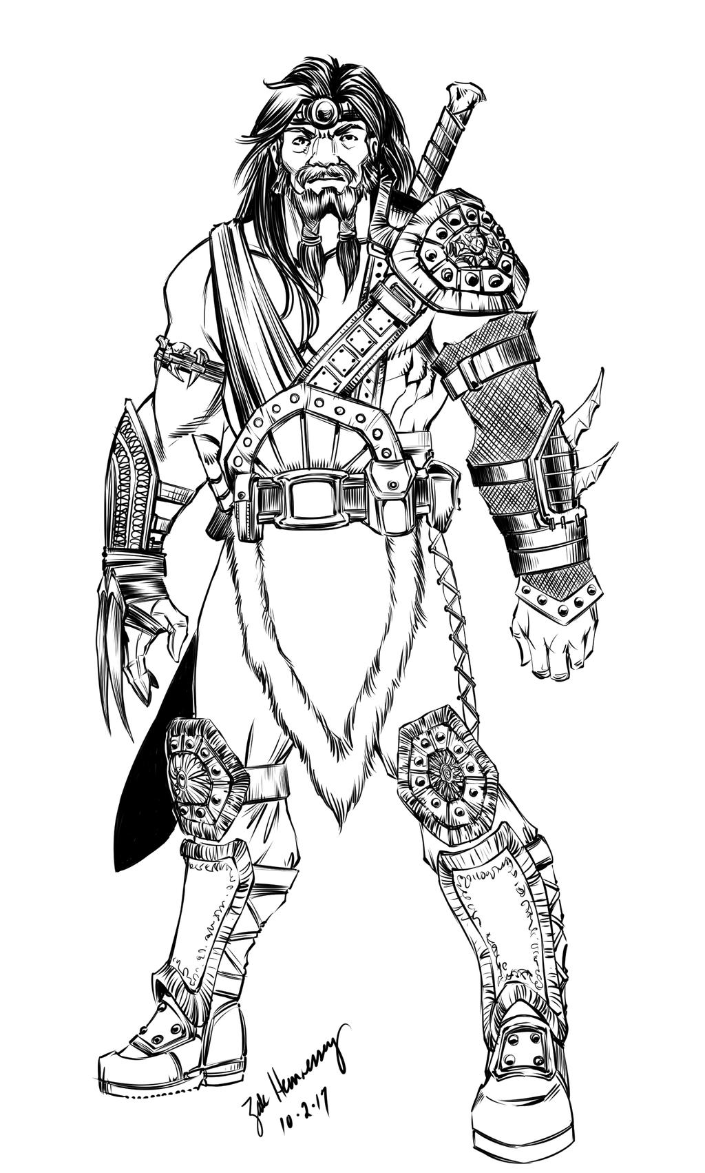how to draw a barbarian barbarian worrior athala warrior drawing art comic art how draw a barbarian to