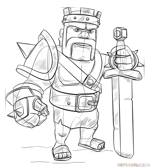how to draw a barbarian clash of clans characters coloring pages draw a how barbarian to