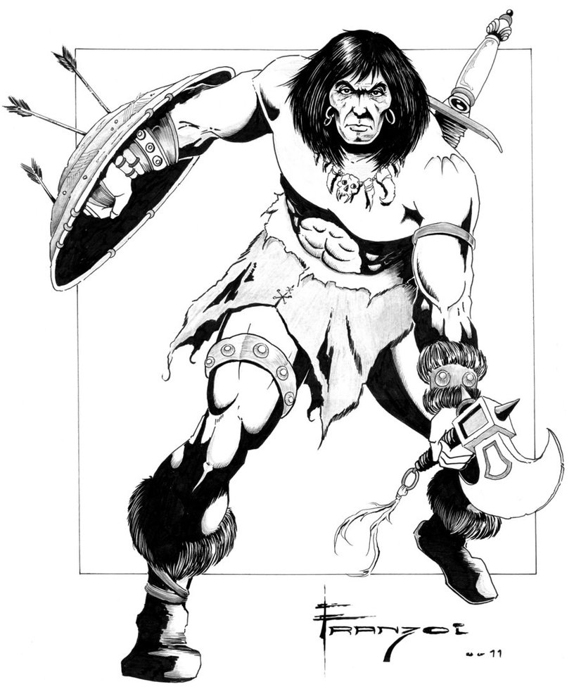 how to draw a barbarian conan the barbarian coloring download conan the barbarian how a barbarian to draw