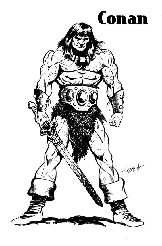 how to draw a barbarian conan the barbarian drawings coloring pages jos for kids to how barbarian a draw