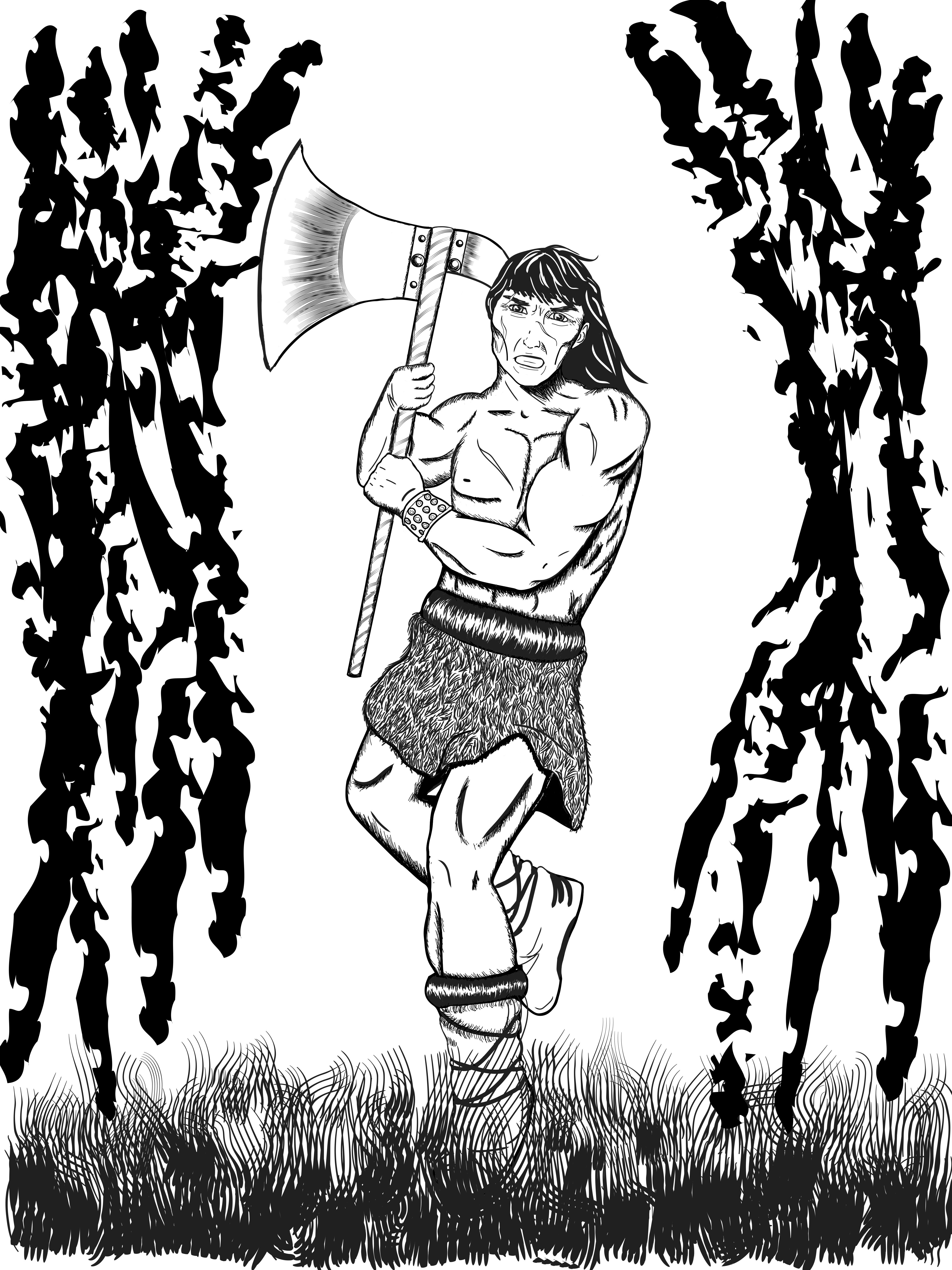 how to draw a barbarian crom the barbarian for an upcoming gallant comics draw barbarian how a to