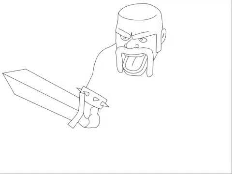 how to draw a barbarian how to draw a barbarian from clash of clans youtube to draw barbarian a how