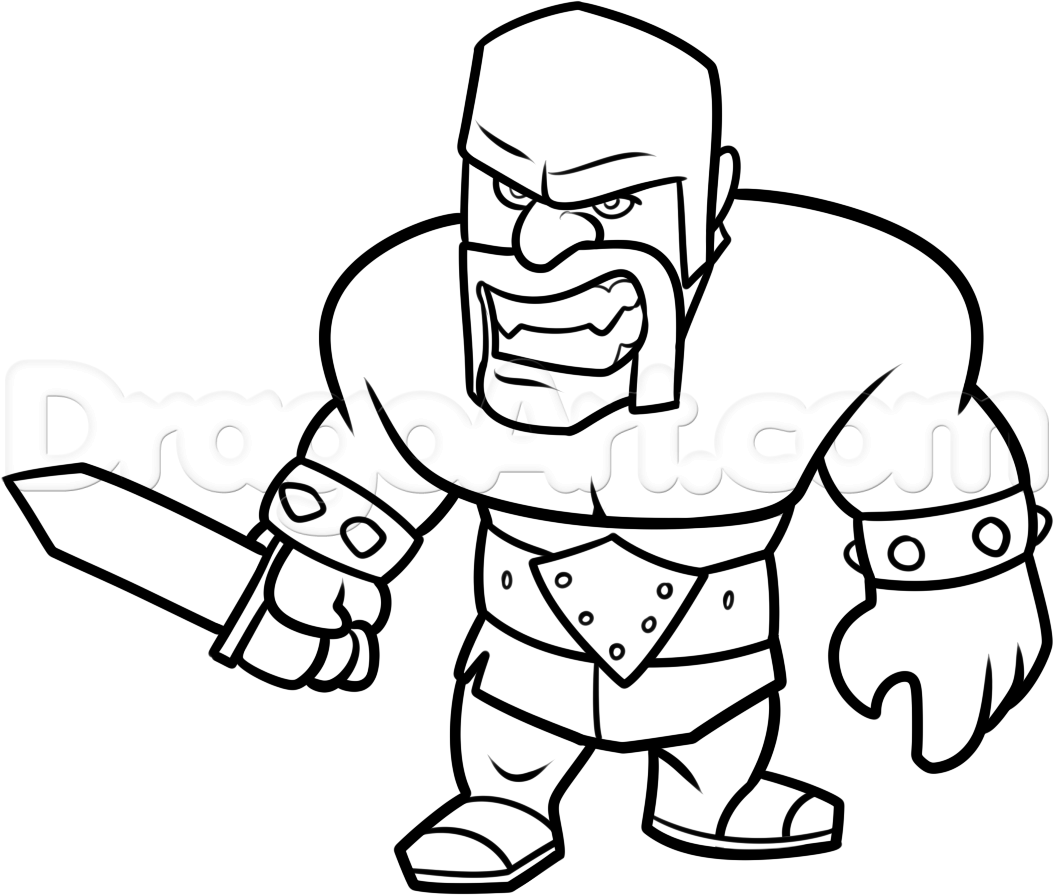 how to draw a barbarian how to draw clash of clans barbarian by dawn clash barbarian how draw to a