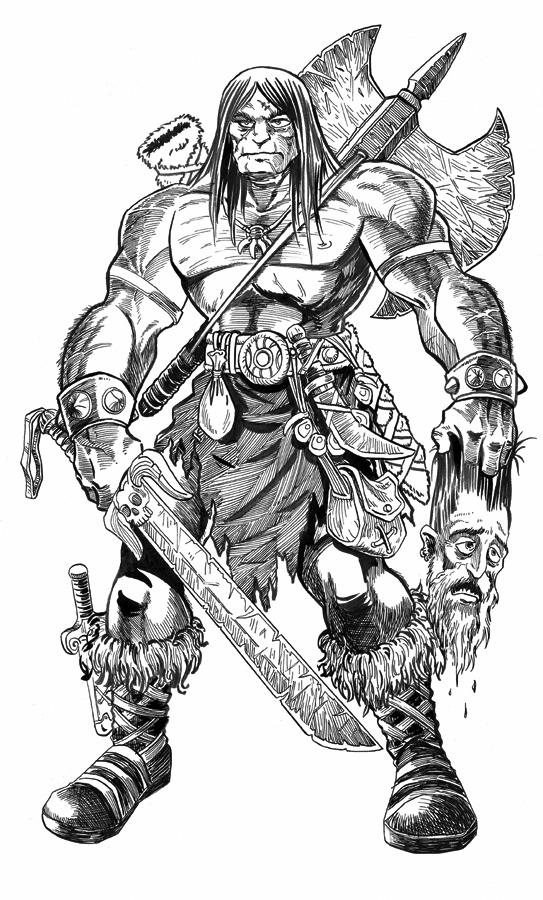 how to draw a barbarian how to draw clash of clans barbarian drawingnow how to barbarian a draw
