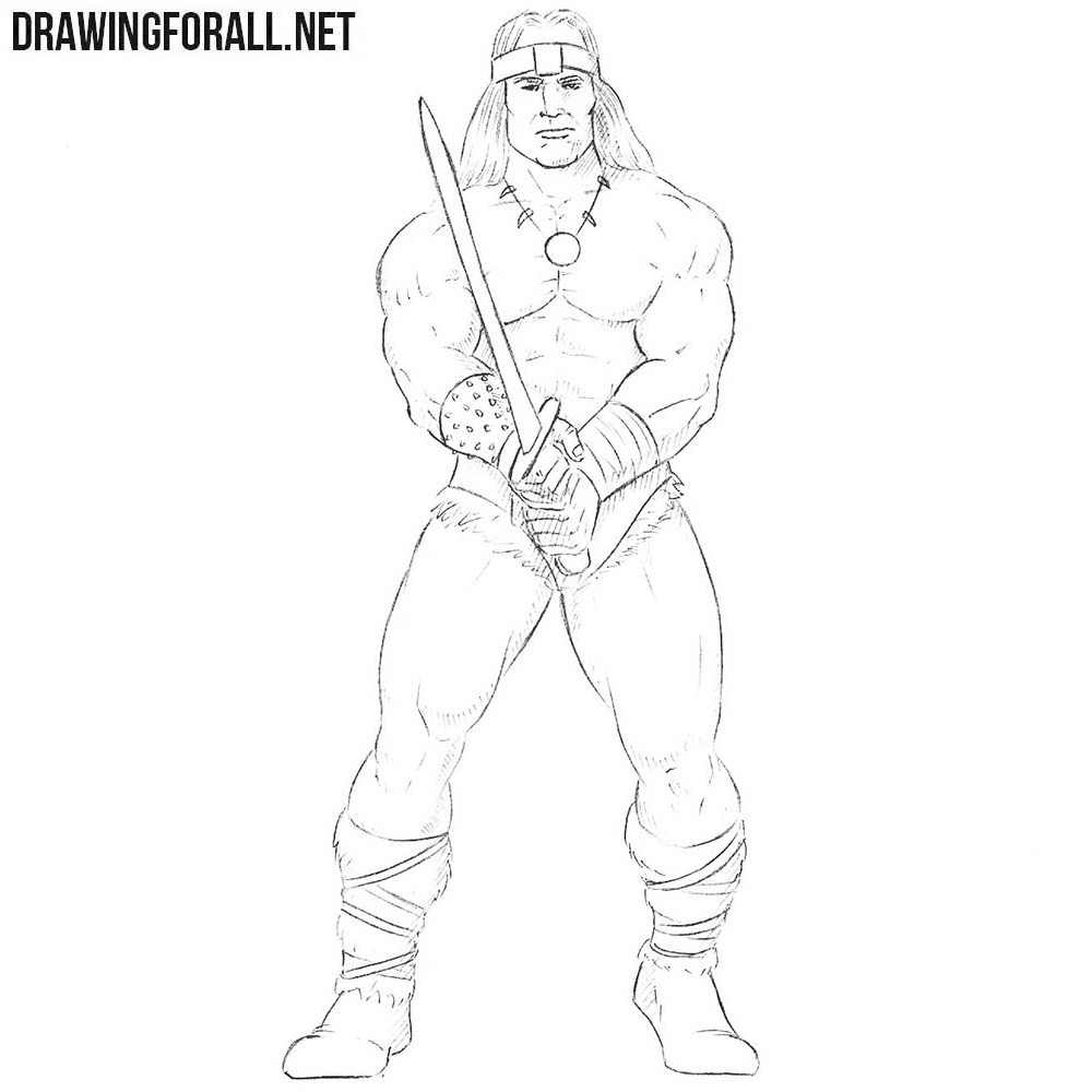 how to draw a barbarian how to draw conan the barbarian drawingforallnet draw a how barbarian to