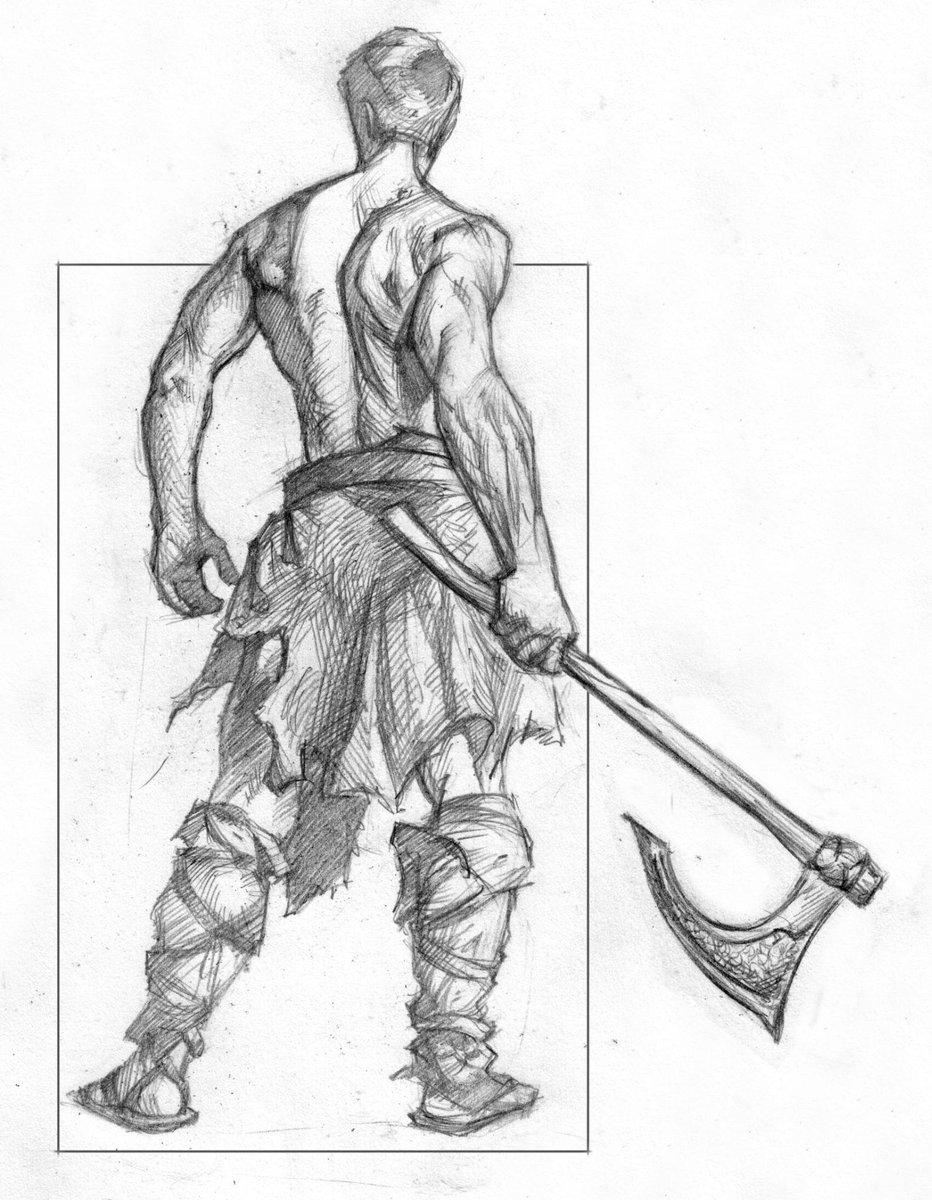 how to draw a barbarian oc the back of the barbarian characterdrawing to barbarian a draw how