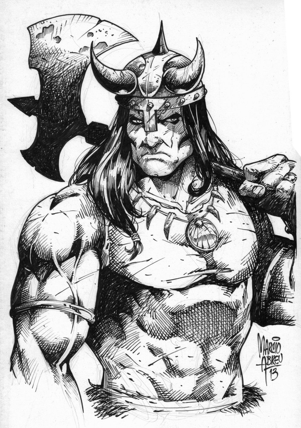 how to draw a barbarian quotconanquot by marcio abreu comic art character art to a how draw barbarian