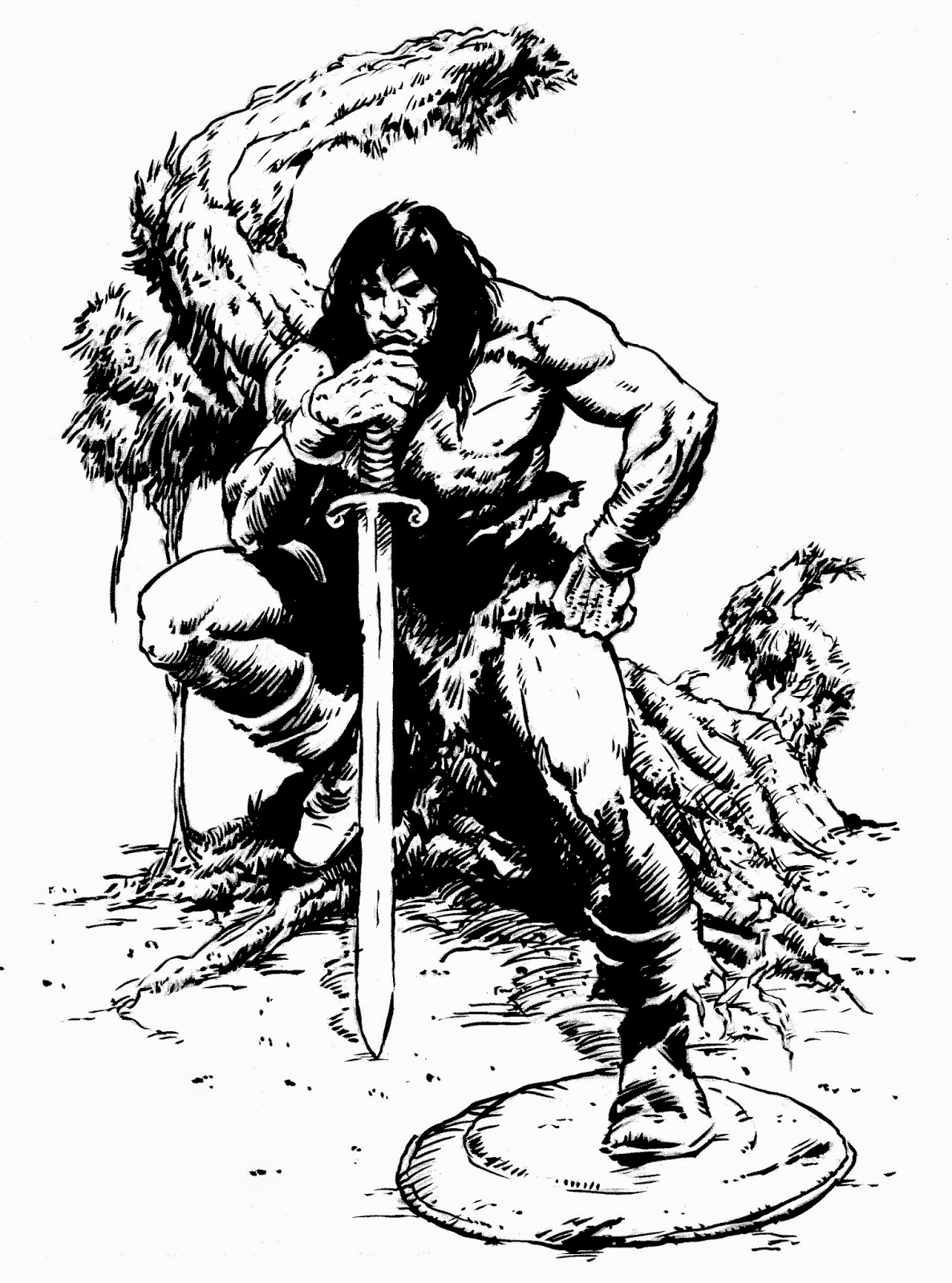 how to draw a barbarian three men in a tub conan the barbarian a barbarian how to draw