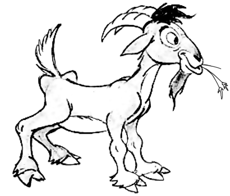 how to draw a billy goat billy goat wearing sunglasses cigar continuousline a how goat to billy draw