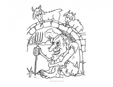 how to draw a billy goat three billy goats gruff coloring pages at getdrawings draw how a billy goat to