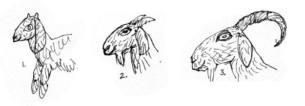how to draw a billy goat working sketches trying to define different ages of goat draw goat a billy to how