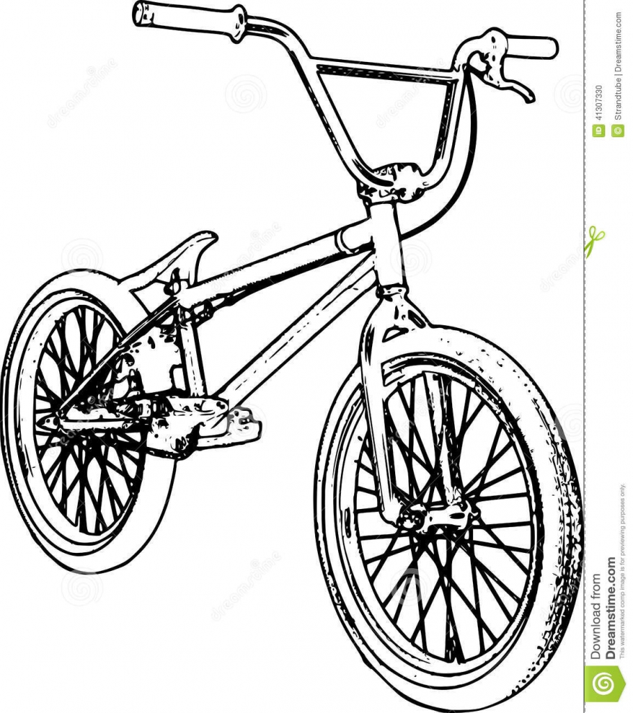 how to draw a bmx bike how to draw a bicycle step by step bicycle drawing draw to bmx bike a how