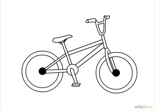 how to draw a bmx bike how to draw a bmx biker step by step drawing tutorials draw bmx a to how bike