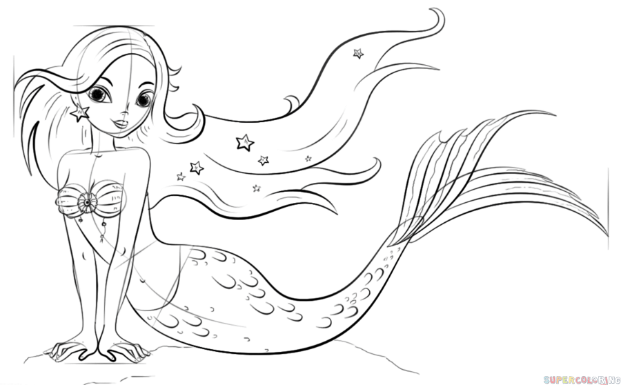 how to draw a cartoon mermaid how to draw a cartoon mermaid step by step drawing tutorials draw a mermaid how to cartoon