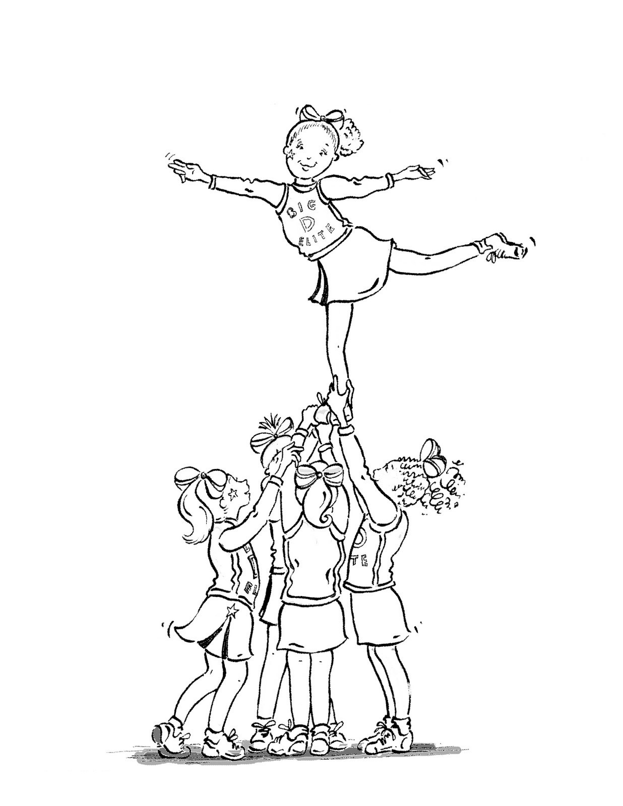 how to draw a cheerleader step by step cheer drawing at getdrawings free download step to cheerleader step draw by how a