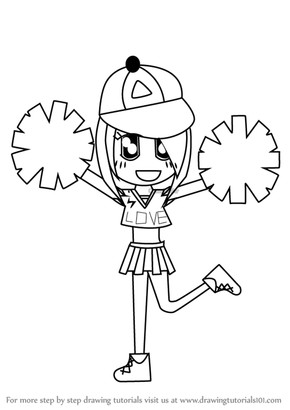 how to draw a cheerleader step by step free cheerleader drawing download free clip art free a by step cheerleader to step how draw