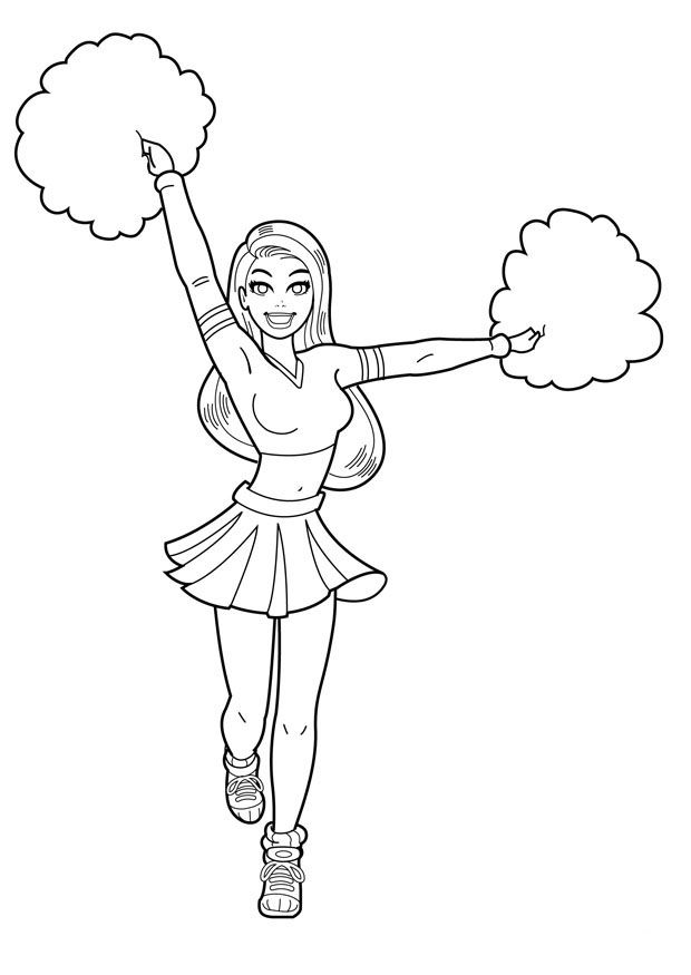 how to draw a cheerleader step by step free printable cheerleading coloring pages for kids draw a to step cheerleader by how step