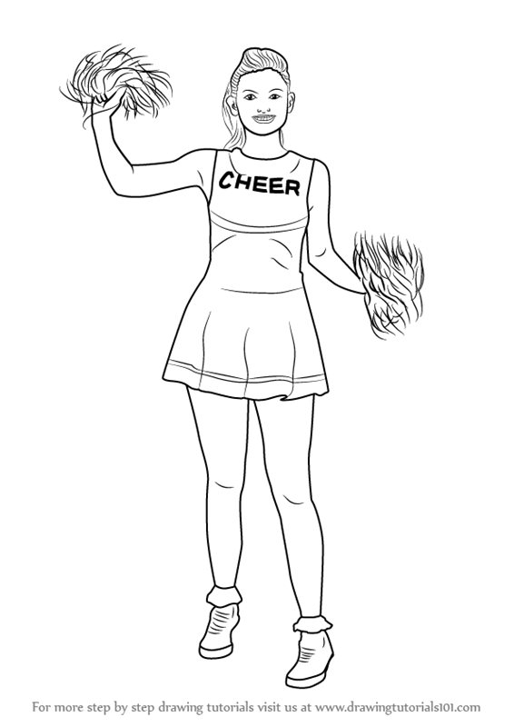 how to draw a cheerleader step by step learn how to draw a cheerleader girls step by step how draw by step cheerleader a step to