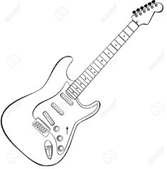 how to draw a electric guitar step by step draw an electric guitar in photoshop step by electric a draw step to how guitar