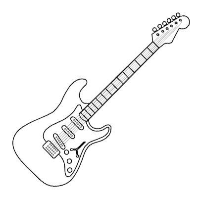 how to draw a electric guitar step by step guitar drawing step by step at getdrawings free download by step draw how a step guitar to electric