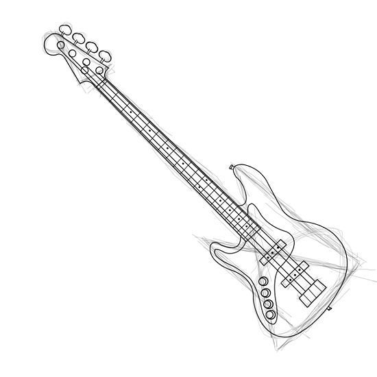 how to draw a electric guitar step by step learn how to draw a bass guitar musical instruments step step to step by guitar how a electric draw