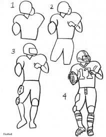 how to draw a football player step by step cartoon soccer player drawing in 4 steps with photoshop how step by draw a football step to player