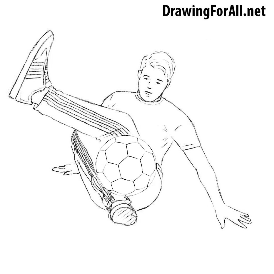 how to draw a football player step by step how to draw a football player drawingforallnet by a draw to football how step player step