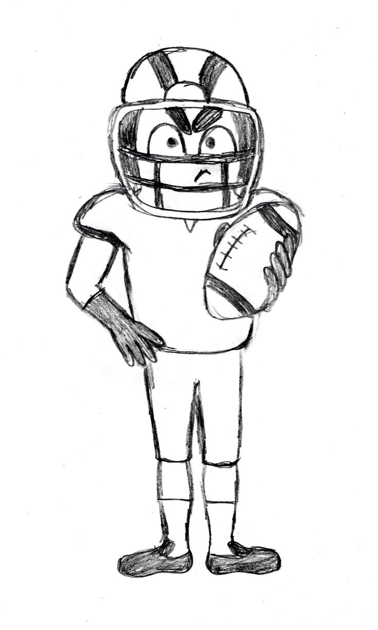 how to draw a football player step by step how to draw a football player drawingforallnet how step step to a player draw football by