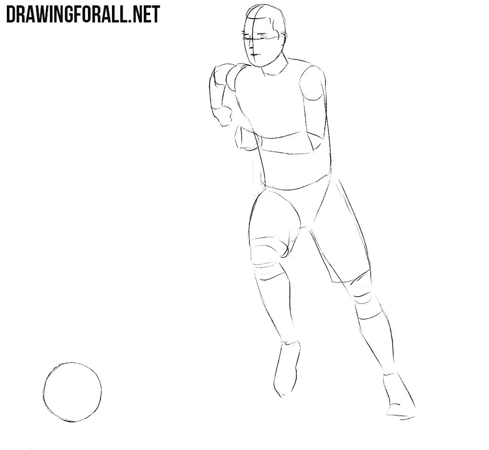 how to draw a football player step by step how to draw a football player easy step by step step player by how step a football draw to