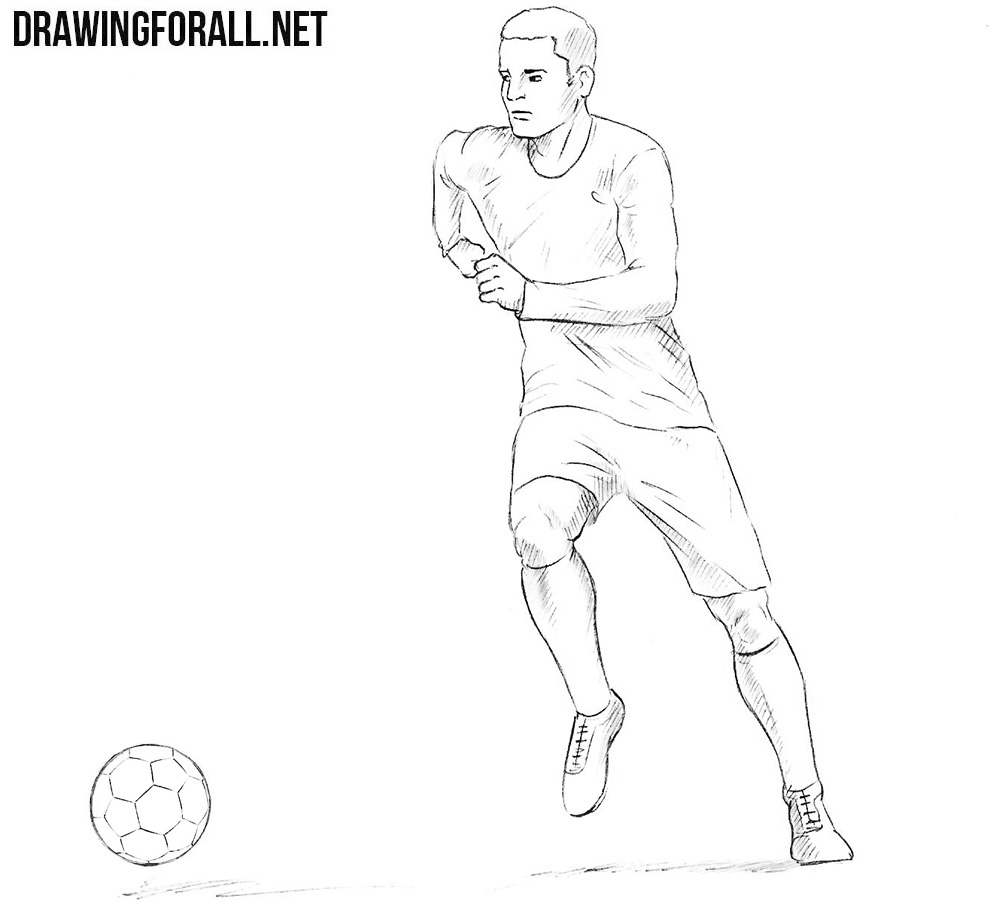 how to draw a football player step by step how to draw an american football player drawingforallnet step a player by draw step football to how