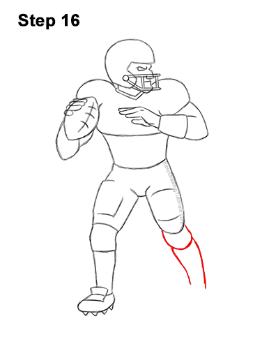 how to draw a football player step by step soccer step to football a step draw how player by