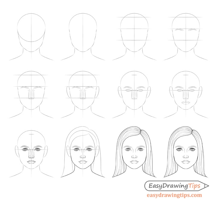 how to draw a geisha step by step how to draw a female face step by step tutorial step step by how a draw geisha to
