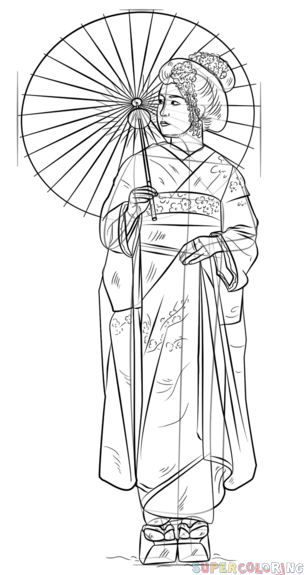 how to draw a geisha step by step how to draw a geisha drawingnow a step how draw step geisha by to