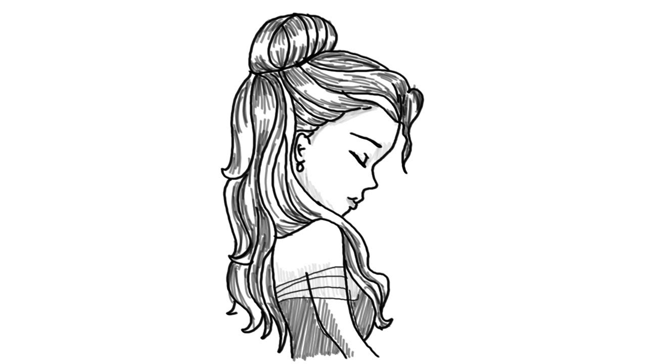 how to draw a geisha step by step how to draw an easy girl face side view step by step youtube a by step step geisha draw how to