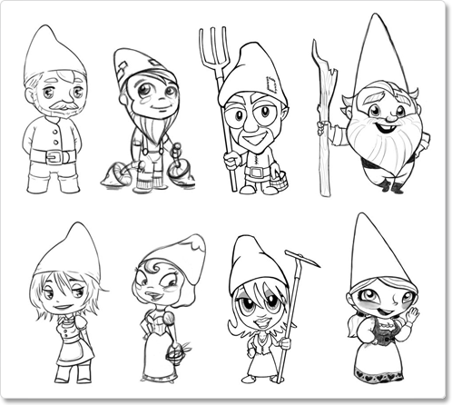 how to draw a gnome christmas elf drawing fairy tale gnome black and white a draw how to gnome