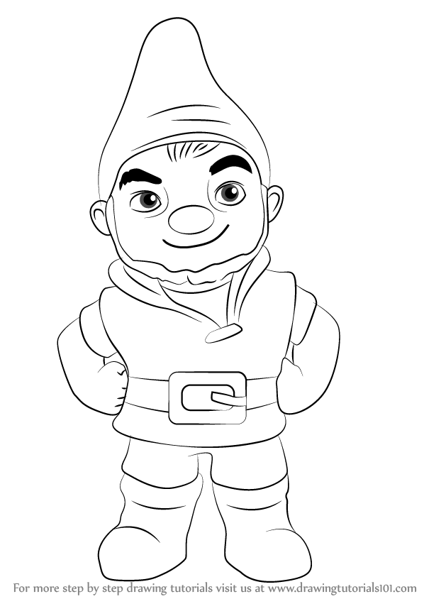 how to draw a gnome garden gnome drawing free download on clipartmag how a gnome to draw