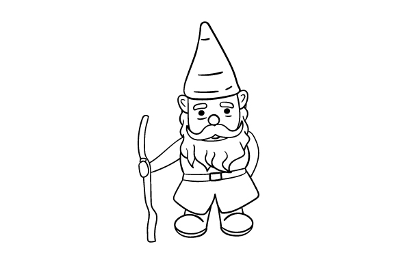 how to draw a gnome garden gnome line art drawing svg cut file by creative a how draw to gnome
