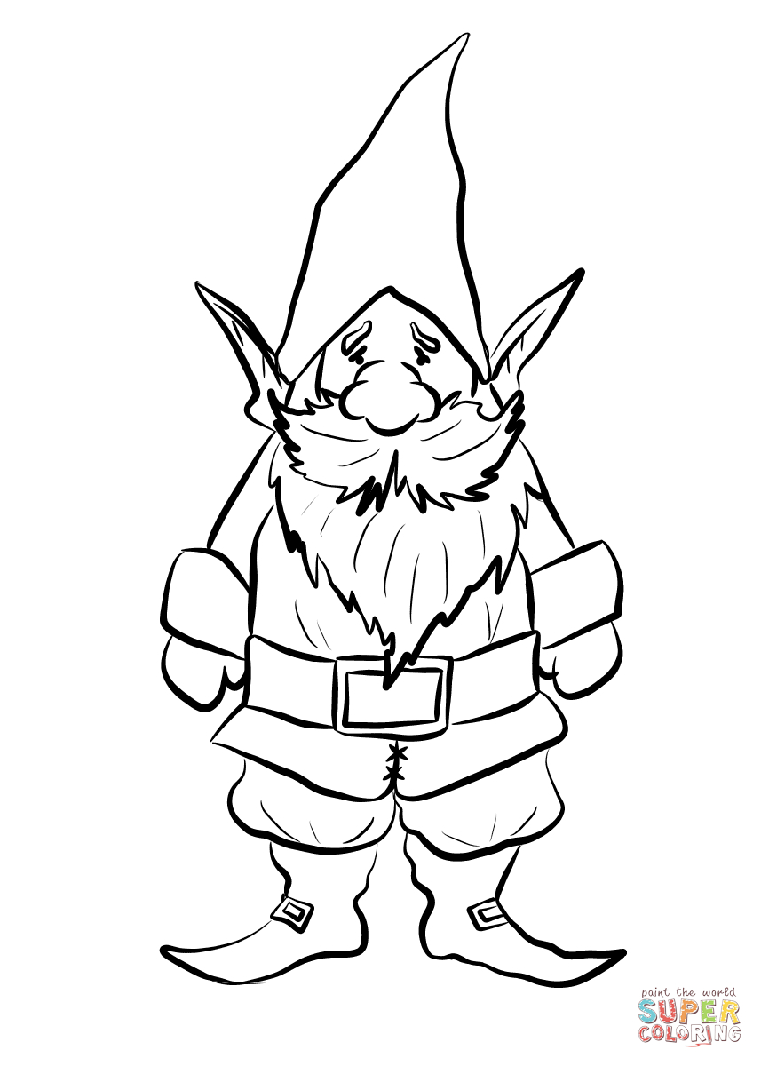how to draw a gnome garden gnome line art drawing svg cut file by creative how gnome to a draw