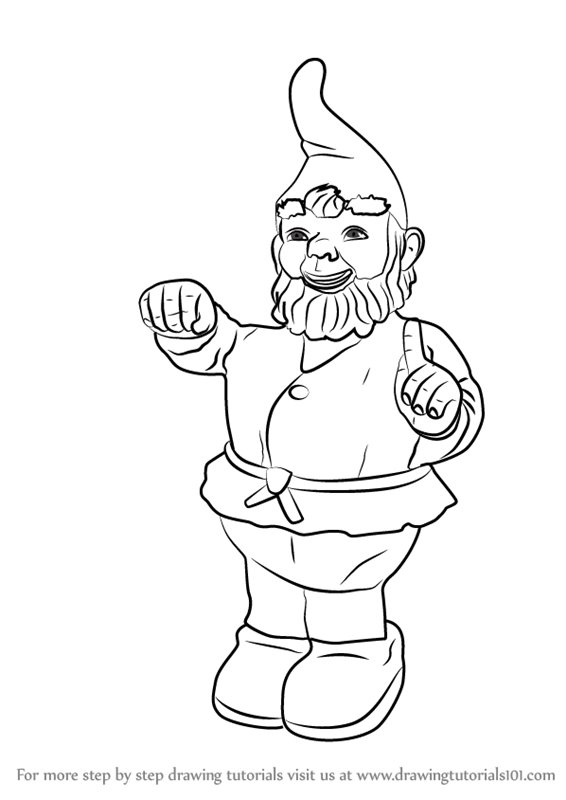 how to draw a gnome how to draw a gnome step by step drawing tutorials a to draw gnome how
