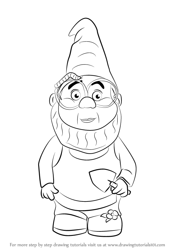 how to draw a gnome how to draw cartoon gnomes step by step drawing tutorial how gnome to a draw