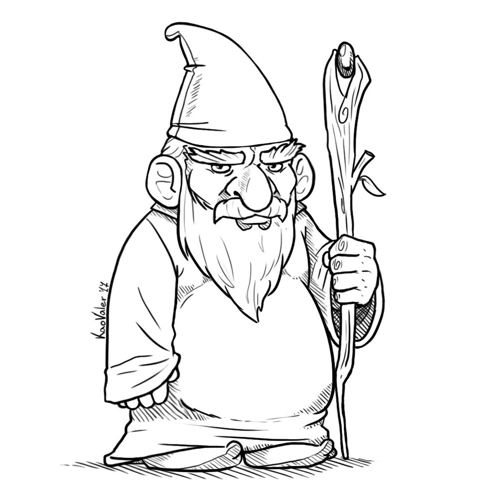 how to draw a gnome how to draw cartoon gnomes step by step drawing tutorial to gnome draw how a