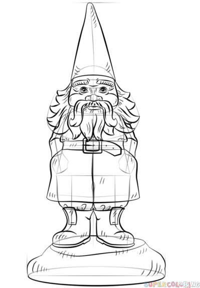 how to draw a gnome pin by elaine kittredge on art drawings patterns draw gnome to a how