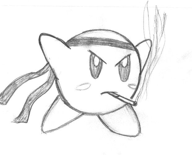 how to draw a kirby colors live ultra sword kirby by johnnysilent how a to kirby draw