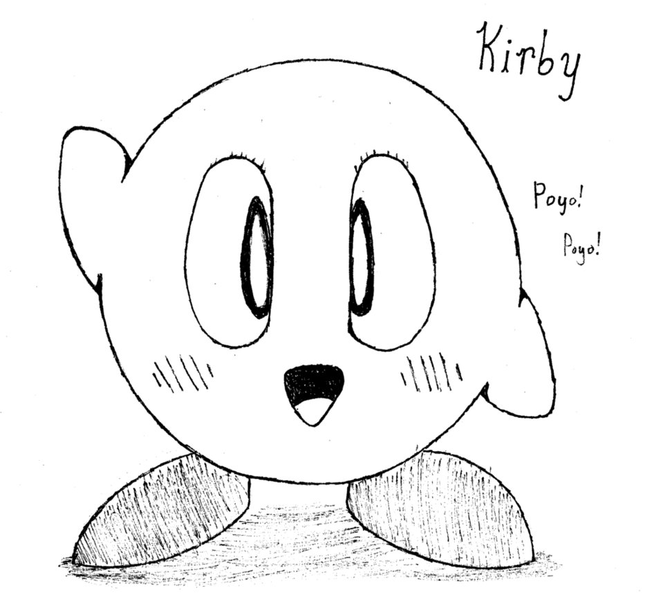 how to draw a kirby family gaming xp happy 2012 kirby help to a how draw kirby