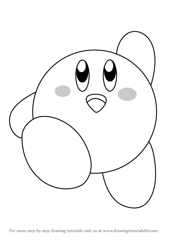 how to draw a kirby how to draw kirby 7 steps with pictures wikihow how draw a kirby to
