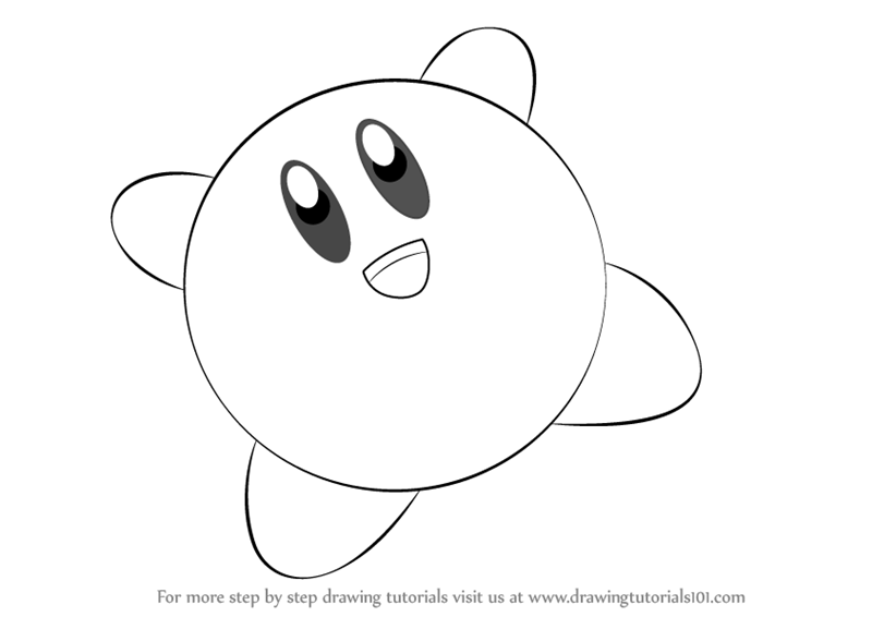 how to draw a kirby kirby coloring pages fighting drawing free printable to draw a how kirby