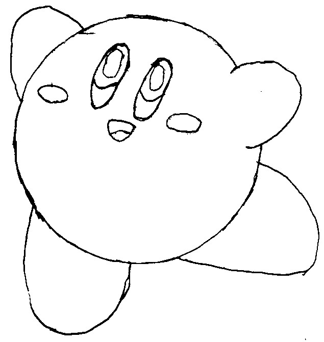 how to draw a kirby kirby drawing at getdrawings free download a draw to how kirby