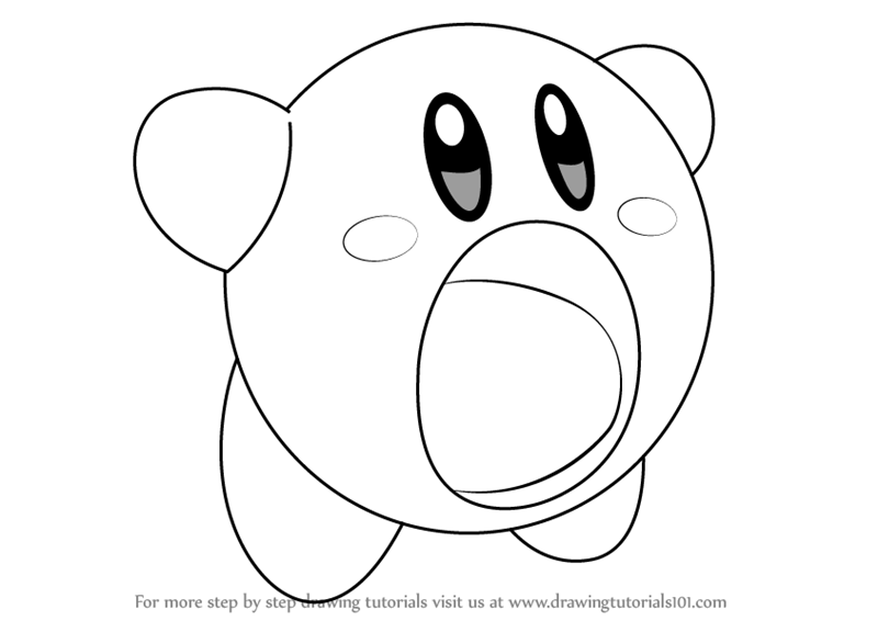 how to draw a kirby learn how to draw kirby kirby step by step drawing kirby draw how a to