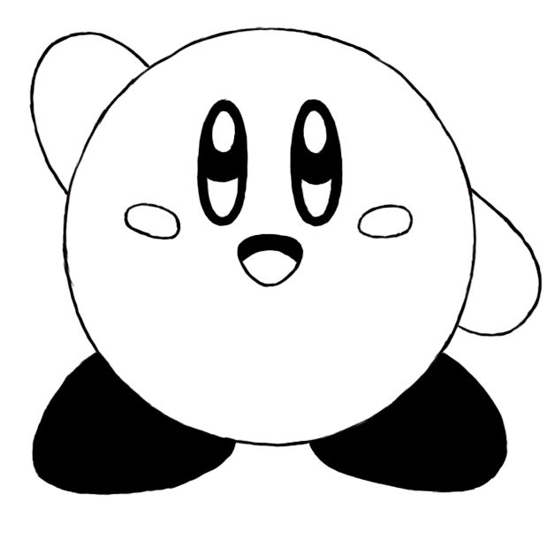 how to draw a kirby supersonic kirby drawings free coloring pages to how draw a kirby