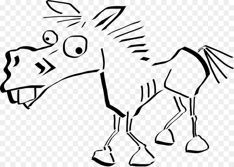 how to draw a mule donkey cartoon drawing in 4 steps with photoshop to draw a mule how